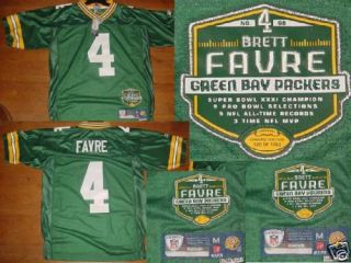 Green Bay Packers Brett Favre Limited Edition Jersey S L Aaron Rodgers