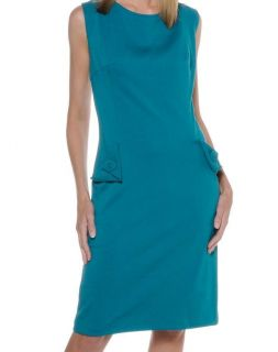 ABS Allen Schwartz Sheath Dress $129 90 Teal 1x