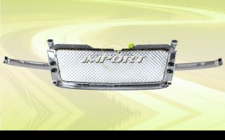 2002 2005 Chevy Avalanche Pickup SUV Truck Chrome Diamond Mesh Grille