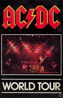 AC/DC 1980 BACK IN BLACK HELLS BELL TOUR CONCERT PROGRAM BOOK