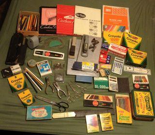 Vintage Junk Drawer Lot School and Office Supplies Pencil Sharpener