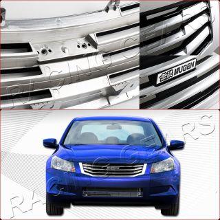 08 10 Honda Accord 4D JDM Glossy Chrome Mug En Front Bumper Grille