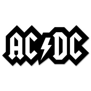ACDC AC DC Music Logo Bumper Sticker Decal 6 x 4
