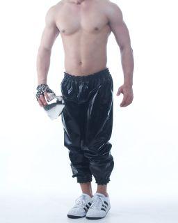 Latex 0 80mm Gummi Rubber sweat Training Sport Active Pants M