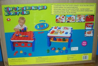 NEW NIB Light n Sound Double Sided Activity Play Toy Table 12 Months
