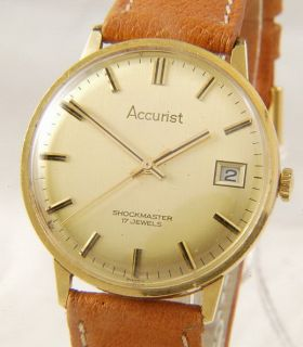 Beautiful Accurist Shockmaster Gold Plated Manual Wind Gents Watch M44
