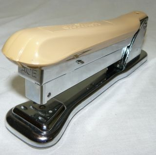 Vintage Industrial Ace Liner 502 Stapler Mid Century Art Deco Desk