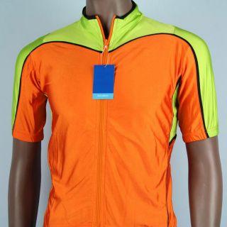 Men Cycling Bike Short Sleeve Dry Active Shirt Jersey Pocket M S33