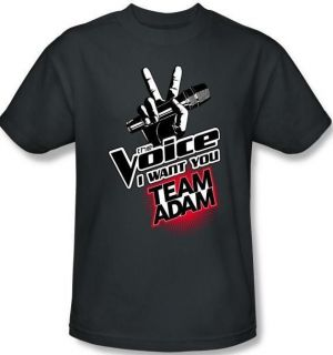 Size The Voice Team Adam Levine Logo TV Show T Shirt Top Tee