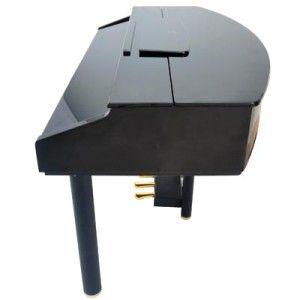Adagio Ebony Mini Grand Piano w/ Bench Multi function LED Display