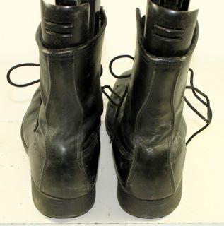ADDISON SHOE CO. BLACK LEATHER COMBAT/MILITARY/JUMP BOOTS MENS sz 11 R