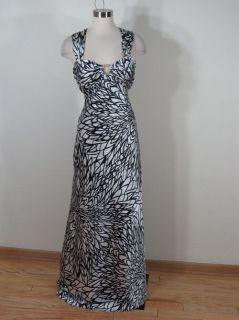 Betsy & Adam Black/White Long Maxi Dress Sz 10 M Medium NWT $189