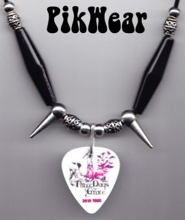 Three Days Grace Life Starts Now Guitar Pick Necklace