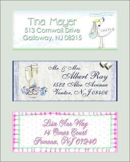 Personalized Wedding Bridal Baby Shower Address Labels