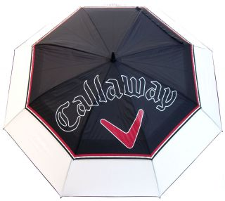 New 64 Callaway Double Canopy Auto Open Golf Umbrella Black White Red
