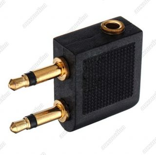 5mm Stereo Headset Headphone Jack to Air Airline Audio Adapter