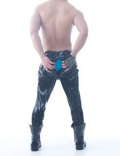 Squeeze Dog Latex Gummi Rubber Active PANTS 2 Way Through Zip