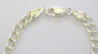 favorites sterling silver charm link bracelet 7 1 2 new