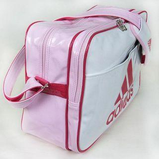 Adidas New Big Size Shoulder Messenger Bag White Pink Officail Item PU
