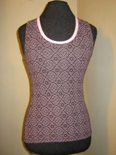 New Brown Danskin Now Active Tank Tank Top SM Stretch Work Out Wear