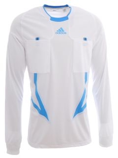 Adidas UEFA Champions League Soccer Referee Jersey   Mens White Top