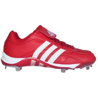 Adidas Excelsior 5 Low Metal Baseball Cleats Red/White 14