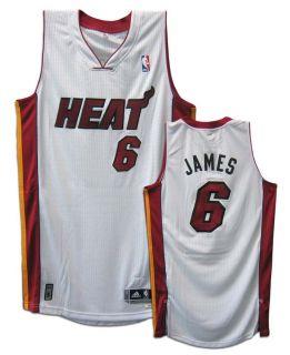 Miami Heat White Revolution 30 Authentic Adidas NBA Jersey