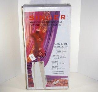 Singer Red Adjustable Dress Form Mannequin Large DF151