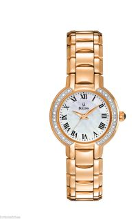 New Bulova 98R156 Womens Rose Gold Tone Case Watch with Multiple