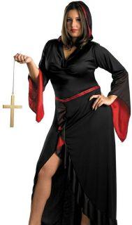 Sexy Womens Vampire Sorceress Witch Plus Size Halloween Fancy Dress