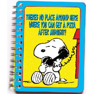 Peanuts Snoopy Kids Tin Address Book Charlie Brown New