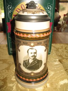 Budweiser Founders Stein CS216 Adolphus Busch