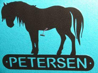 Horse Metal Home Address Sign Wall Decor House Memorial