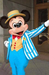 Professional Blue Mickey Mouse Mascot Costume Adult Size for Great