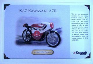 Promo Postcard Kawasaki 1967 A7R Card 350 Road Racer RARE Collector
