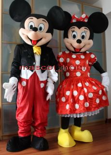 Mickey and Minnie Mouse 2 Mascot Costume Adult Cartoon