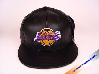 Leather Black Yellow Purple Authentic NBA Adidas Fitted Cap