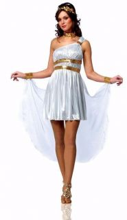 New Venus Diva Greek God Goddess Toga Adult Women Halloween Costume Sz