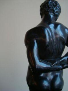 and Female Figurine Emanuel Pendl Wood Black African American