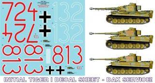 Tamiya 1 16 Tiger I Tank Decals Afrika Korps DAK