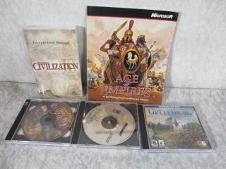 Gettysburg American Civil War Age of Empires Civilization 3 PC CD