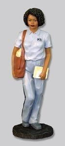 African American Figurine US Postal Service Female Letter Carrier