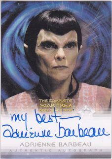 Star Trek DS9 Quotable Adrienne Barbeau Autograph