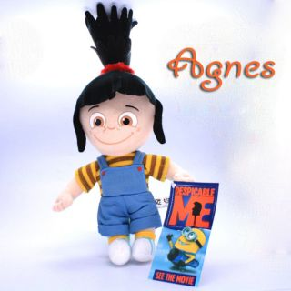 Agnes Plush Toy Despicable Me Black Hair Girl Doll New