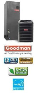 Ton 15 SEER Goodman Air Conditioning System SSX140361 AVPTC42601