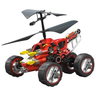 Air Hogs Hover Assault Red Ground Air Hybrid RC Kids Toy Mini Heli