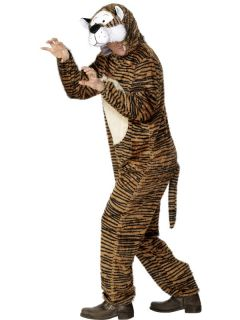 Adults Unisex Tiger Animal Smiffys Fancy Dress Costume M