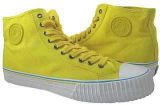NEW Mens Pf Flyers Center High Reiss Yellow Athletic Sneakers 12