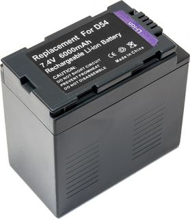 Battery for Panasonic CGR D54 DVX 100B AG DVX100A AG DVC60 CGR D320