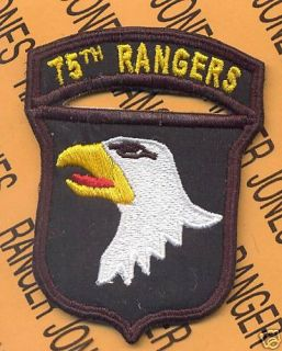 101st Airborne Div 75th Rangers LRRP Arc Tab Patch